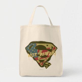Superman S-Shield   Not Afraid Logo Tote Bag