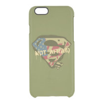 Superman S-Shield | Not Afraid Logo Clear iPhone 6/6S Case