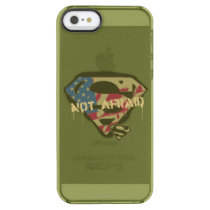 Superman S-Shield | Not Afraid Logo Clear iPhone SE/5/5s Case