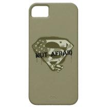 Superman S-Shield   Not Afraid - US Camo Logo iPhone SE/5/5s Case