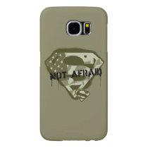 Superman S-Shield   Not Afraid - US Camo Logo Samsung Galaxy S6 Case