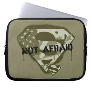 Superman S-Shield | Not Afraid - US Camo Logo Computer Sleeve