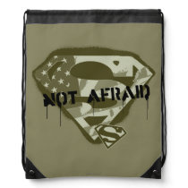 Superman S-Shield | Not Afraid - US Camo Logo Drawstring Bag