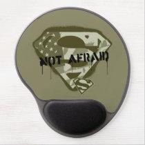 Superman S-Shield | Not Afraid - US Camo Logo Gel Mouse Pad