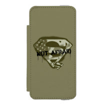 Superman S-Shield | Not Afraid - US Camo Logo Wallet Case For iPhone SE/5/5s