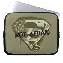 Superman S-Shield | Not Afraid - US Camo Logo Laptop Sleeve