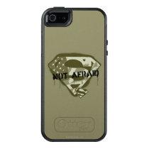 Superman S-Shield   Not Afraid - US Camo Logo OtterBox iPhone 5/5s/SE Case