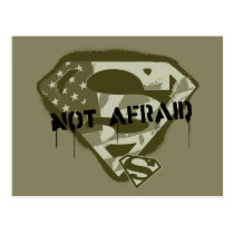 Superman S-Shield | Not Afraid - US Camo Logo Postcard