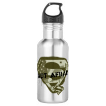 Superman S-Shield | Not Afraid - US Camo Logo Stainless Steel Water Bottle