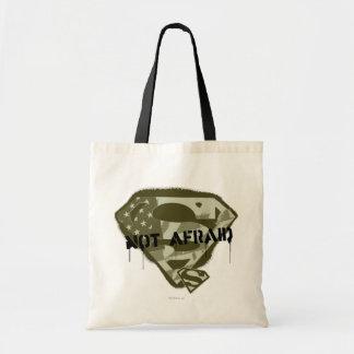 Superman S-Shield   Not Afraid - US Camo Logo Tote Bag