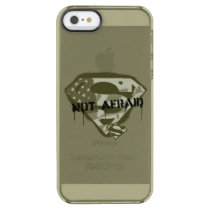 Superman S-Shield | Not Afraid - US Camo Logo Clear iPhone SE/5/5s Case
