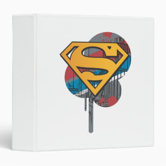 Superman S-Shield | Orange with Paint 3 Ring Binder