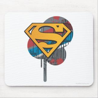 Superman S-Shield | Orange with Paint Mouse Pad