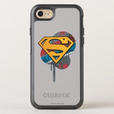 Superman S-Shield | Orange with Paint OtterBox Symmetry iPhone 8/7 Case
