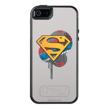 Superman S-Shield | Orange with Paint OtterBox iPhone 5/5s/SE Case