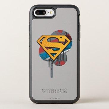 Superman S-Shield | Orange with Paint OtterBox Symmetry iPhone 8 Plus/7 Plus Case