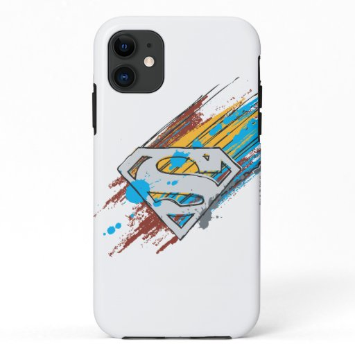 Superman S-Shield | Paint Streaks Logo iPhone 11 Case