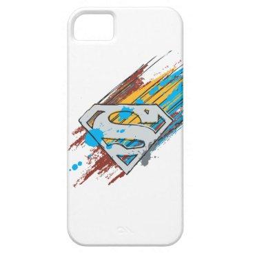 Superman S-Shield | Paint Streaks Logo iPhone SE/5/5s Case