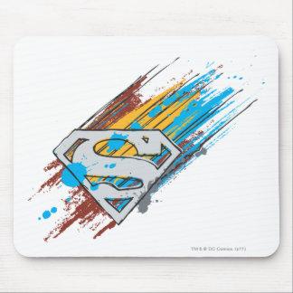 Superman S-Shield | Paint Streaks Logo Mouse Pad