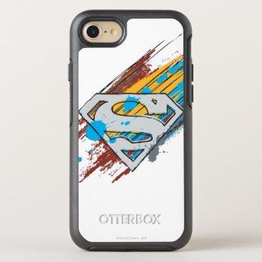Superman S-Shield | Paint Streaks Logo OtterBox Symmetry iPhone 8/7 Case