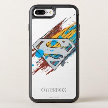 Superman S-Shield | Paint Streaks Logo OtterBox Symmetry iPhone 8 Plus/7 Plus Case
