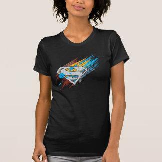 Superman S-Shield   Paint Streaks Logo T-shirt