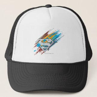 Superman S-Shield | Paint Streaks Logo Trucker Hat
