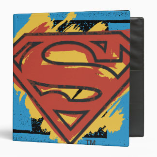 Superman S-Shield | Painted Blue Background Logo 3 Ring Binder