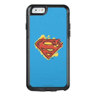 Superman S-Shield | Painted Blue Background Logo OtterBox iPhone 6/6s Case