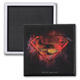 Superman S-Shield | Painted Logo 2 Inch Square Magnet