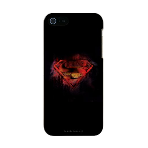 Superman S-Shield | Painted Logo Metallic Phone Case For iPhone SE/5/5s