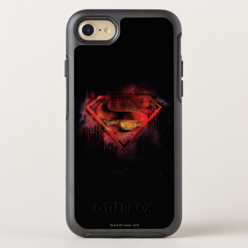 Superman S-Shield | Painted Logo OtterBox Symmetry iPhone SE/8/7 Case