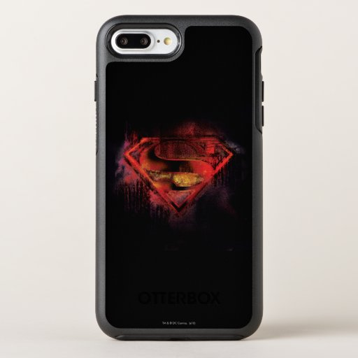 Superman S-Shield | Painted Logo OtterBox Symmetry iPhone 8 Plus/7 Plus Case