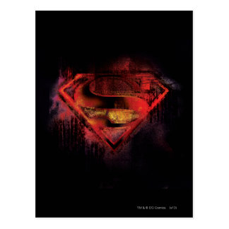 Superman S-Shield | Painted Logo Postcard