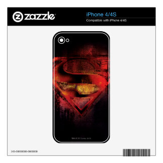 Superman S-Shield | Painted Logo Skin For The iPhone 4