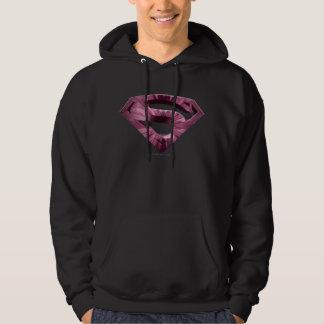 Superman S-Shield | Pink Star Burst Logo Hoodie