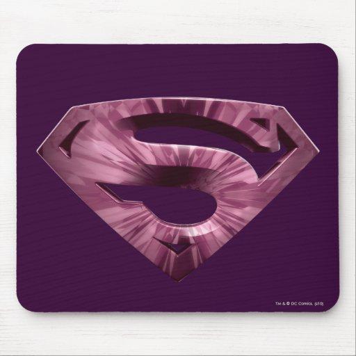 Superman S-Shield   Pink Star Burst Logo Mouse Pad