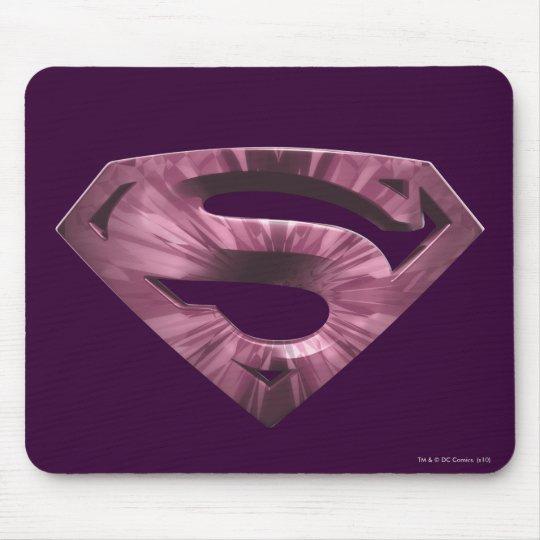 Superman S-Shield | Pink Star Burst Logo Mouse Pad