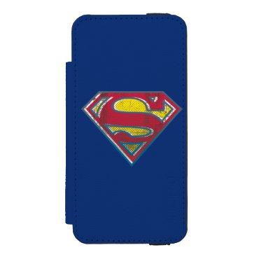 Superman S-Shield | Printed Logo iPhone SE/5/5s Wallet Case