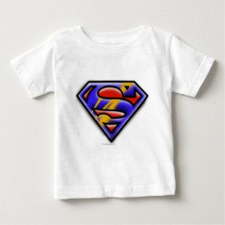 Superman S-Shield   Purple Airbrush Logo Baby T-Shirt