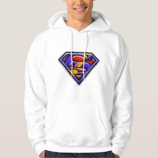 Superman S-Shield | Purple Airbrush Logo Hoodie