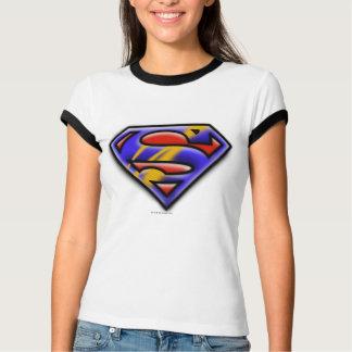 Superman S-Shield   Purple Airbrush Logo T-Shirt