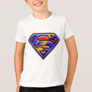 Superman S-Shield | Purple Airbrush Logo T-Shirt
