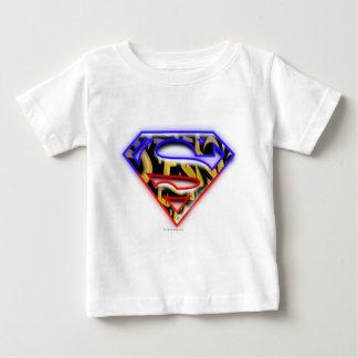 Superman S-Shield   Purple-Red Graffiti Logo Baby T-Shirt