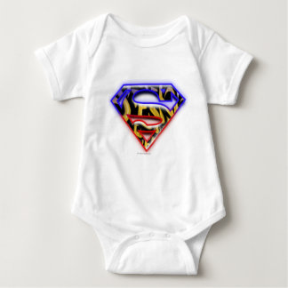 Superman S-Shield   Purple-Red Graffiti Logo Shirt