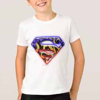 Superman S-Shield | Purple-Red Graffiti Logo T-Shirt