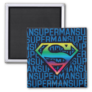 Superman S-Shield | Rainbow Logo 2 Inch Square Magnet