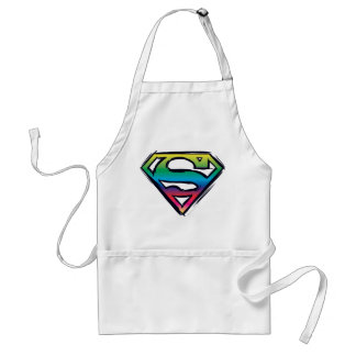 Superman S-Shield   Rainbow Logo Adult Apron