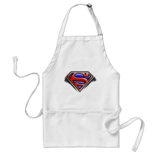Superman S-Shield | Red Airbrush Logo Adult Apron
