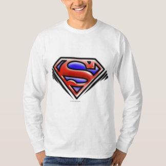 Superman S-Shield | Red Airbrush Logo T-Shirt